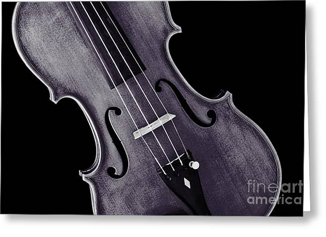 Still Life Photographs Greeting Cards - Viola Violin Photograph Strings Bridge in Sepia 3263.01 Greeting Card by M K  Miller