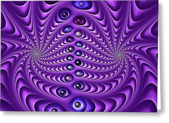 Pause Digital Greeting Cards - Violaceous Marble Works Greeting Card by Doug Morgan