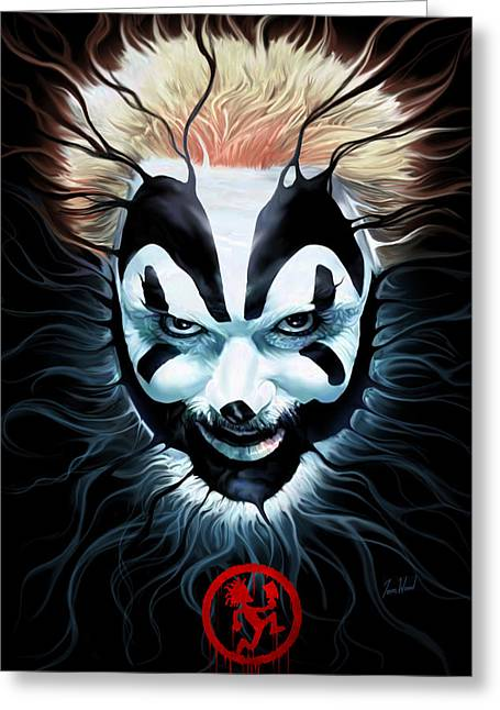 Violent Greeting Cards - Violent J Spectral Greeting Card by Tom Wood