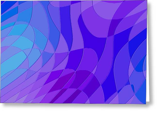 Violet Blue Abstract Greeting Card by L Brown