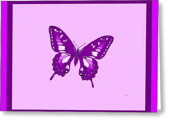 Consume Mixed Media Greeting Cards - Violet Butterfly Greeting Card by L Brown
