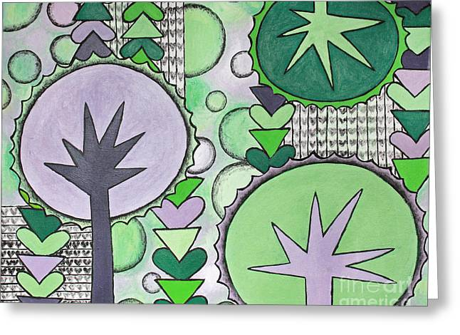 Violet-green Greeting Card by Home Art