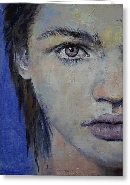Lowbrow Greeting Cards - Violet Greeting Card by Michael Creese