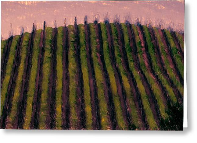 Sonoma County Mixed Media Greeting Cards - Violet Morning Greeting Card by John K Woodruff