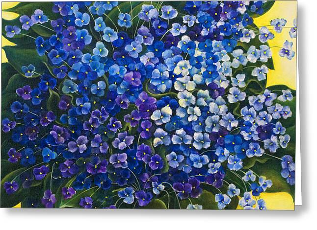 Bucci Paintings Greeting Cards - Violet Sanctuary Greeting Card by Debra Bucci