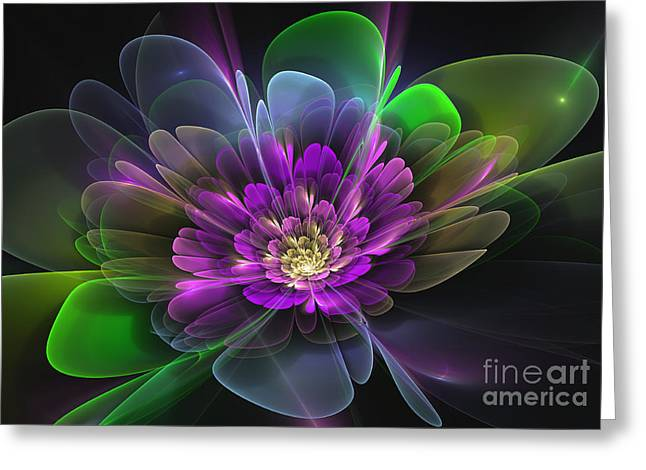 Purple Abstract Greeting Cards - Violetta Greeting Card by Svetlana Nikolova
