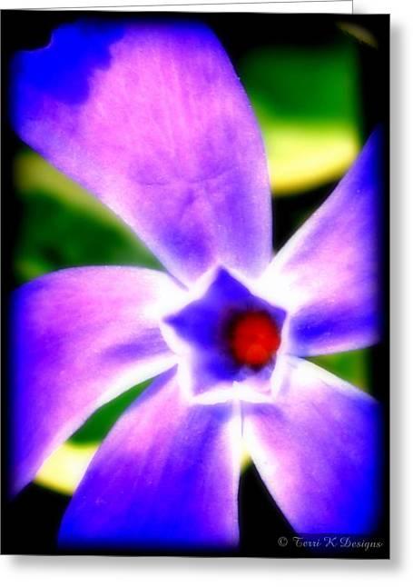 Terri K Designs Greeting Cards - Violetti Greeting Card by Terri K Designs