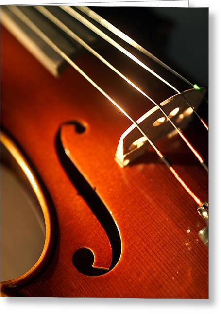 Stringed Instrument Greeting Cards - Violin IV Greeting Card by Jon Neidert