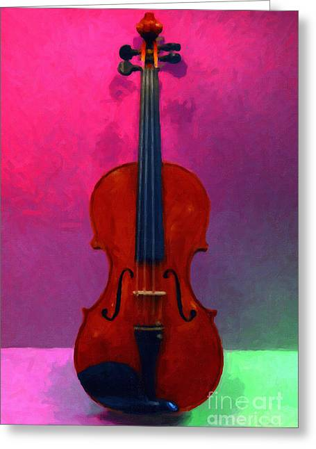 Wood Instruments Greeting Cards - Violin - 20130111 v1 Greeting Card by Wingsdomain Art and Photography
