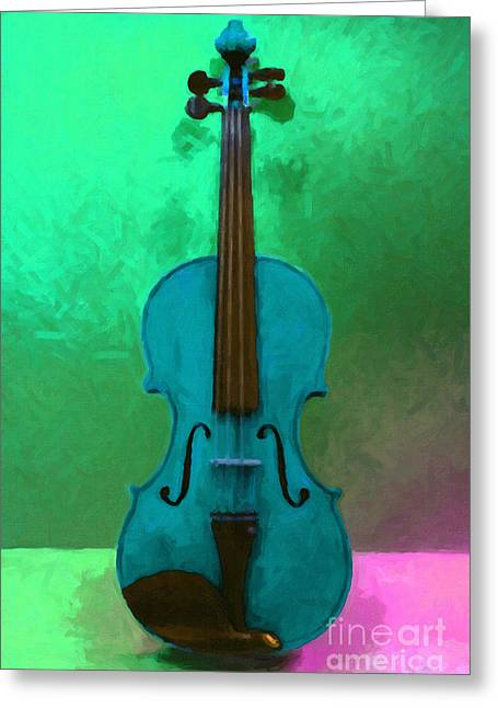Wood Instruments Greeting Cards - Violin - 20130111 v2 Greeting Card by Wingsdomain Art and Photography