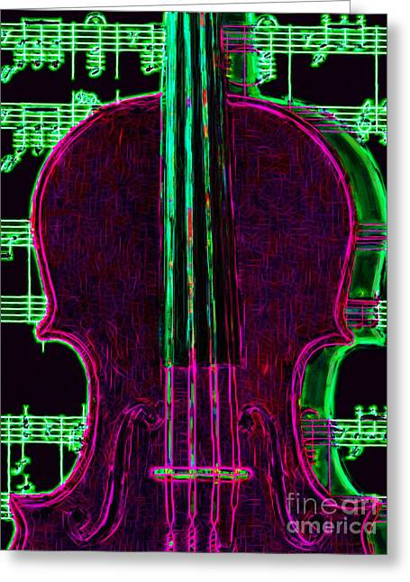 Wood Instruments Greeting Cards - Violin - 20130128v2 Greeting Card by Wingsdomain Art and Photography