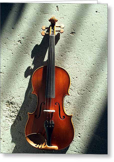 Stringed Instrument Greeting Cards - Violin XV Greeting Card by Jon Neidert