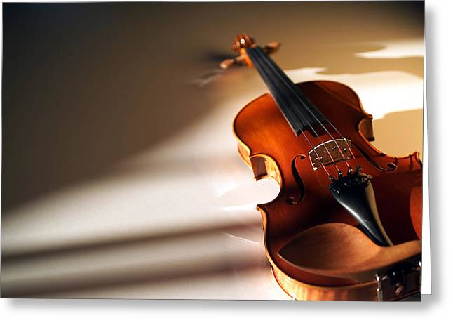 Stringed Instrument Greeting Cards - Violin XIV Greeting Card by Jon Neidert