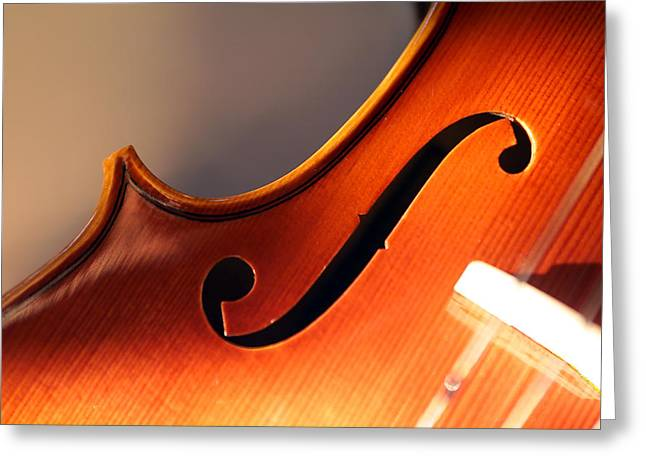 Stringed Instrument Greeting Cards - Violin XIII  Greeting Card by Jon Neidert