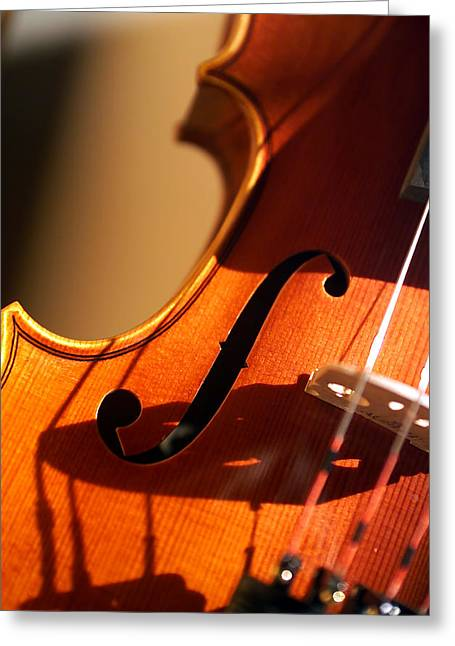 Stringed Instrument Greeting Cards - Violin X Greeting Card by Jon Neidert