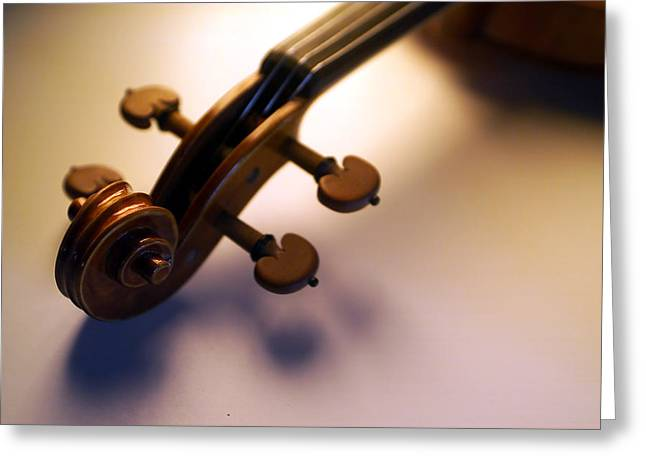 Stringed Instrument Greeting Cards - Violin VIII Greeting Card by Jon Neidert