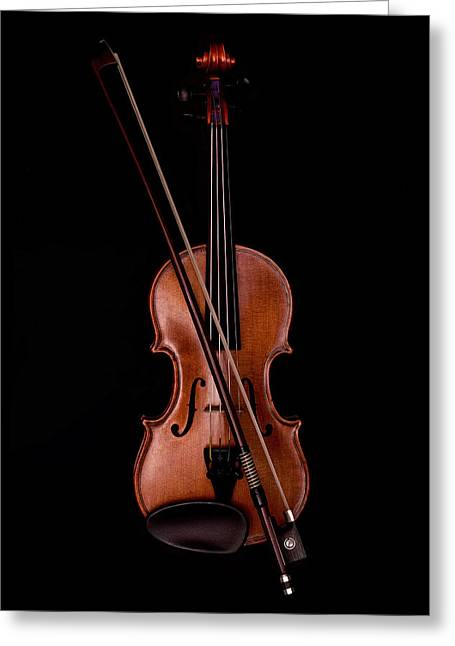 String Instrument Greeting Cards - Violin Greeting Card by Andrew Soundarajan