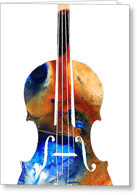 . Music Greeting Cards - Violin Art by Sharon Cummings Greeting Card by Sharon Cummings