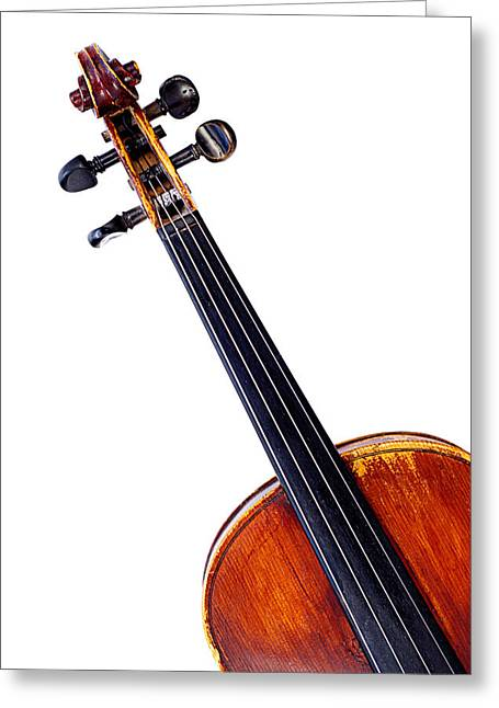 White Chopin Greeting Cards - Violin Greeting Card by Chevy Fleet