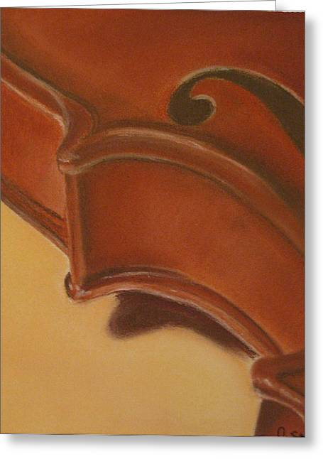 Dawnstarstudios Greeting Cards - Violin Greeting Card by Dawnstarstudios
