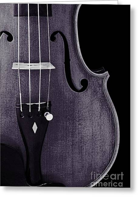 Still Life Photographs Greeting Cards - Violin Viola Body Photograph or Picture in Sepia 3265.01 Greeting Card by M K  Miller