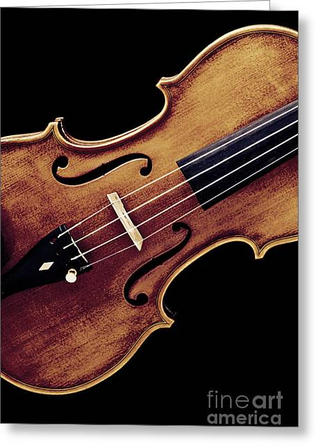 Still Life Photographs Greeting Cards - Violin Viola Photograph Strings Bridge in Color 3264.02 Greeting Card by M K  Miller