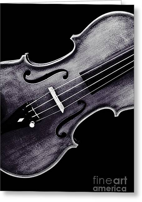 Still Life Photographs Greeting Cards - Violin Viola Photograph Strings Bridge in Sepia 3264.01 Greeting Card by M K  Miller