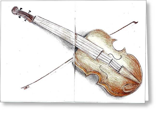 Violine Greeting Card by Nazy Ch
