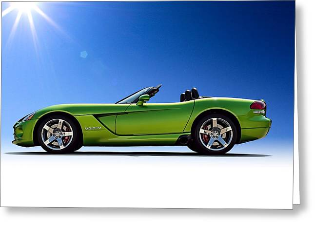 Green Greeting Cards - Viper Roadster Greeting Card by Douglas Pittman