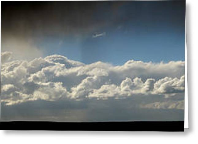Prescott Greeting Cards - Virga and Distant Storm Front Greeting Card by Aaron Burrows