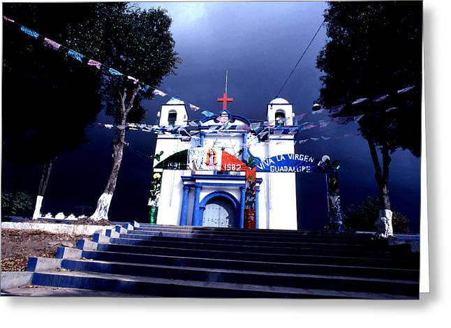 Virgen De Guadalupe Art Greeting Cards - Virgen de Guadalupe Greeting Card by Robert  Rodvik