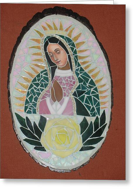 Virgen De Guadalupe Greeting Card by Rosa Cardenas