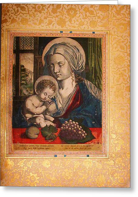 Child Jesus Greeting Cards - Virgin and Child Greeting Card by Celestial Images