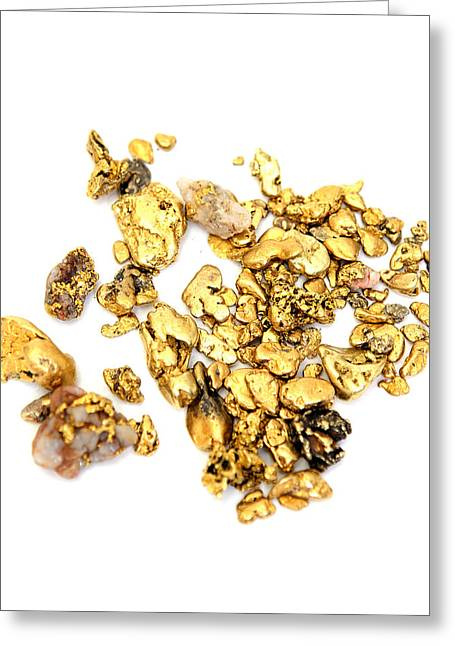Valuable Greeting Cards - Virgin Gold Greeting Card by Don Bendickson