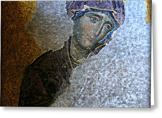 Virgin Mary Greeting Card by Stephen Stookey