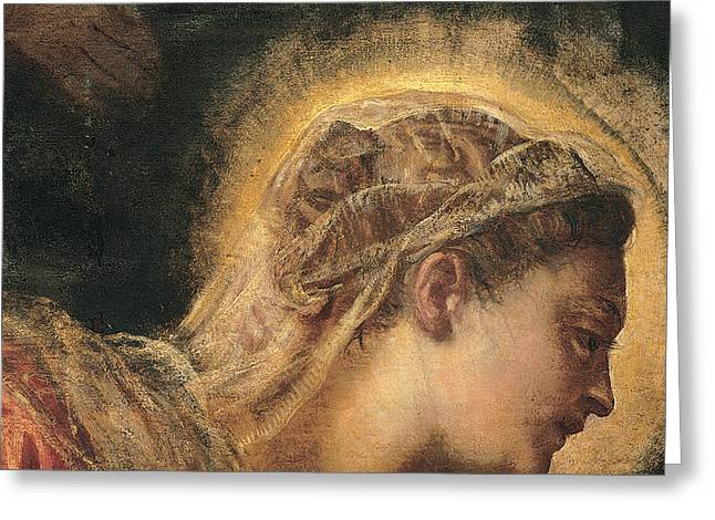 Close Up Paintings Greeting Cards - Virgin Mary  Greeting Card by Tintoretto
