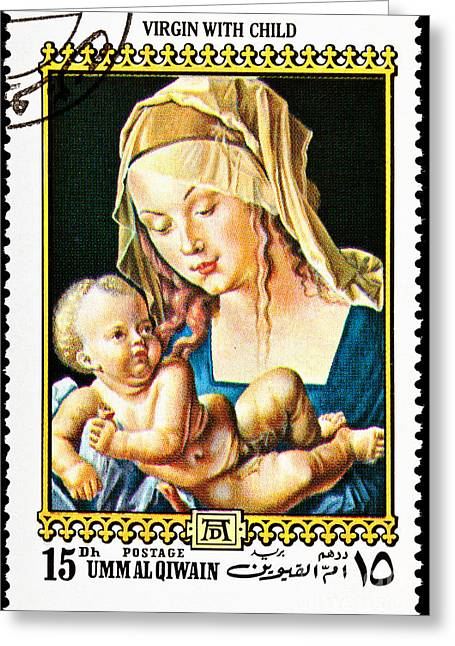 Umm Greeting Cards - Virgin Mary With Child  Greeting Card by Jim Pruitt