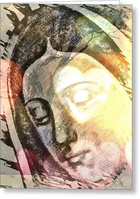 Etc. Digital Art Greeting Cards - Virgin Mother Greeting Card by HollyWood Creation By linda zanini