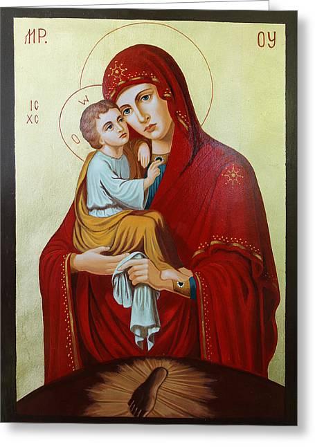 Virgin Of Pachev Greeting Card by Janeta Todorova
