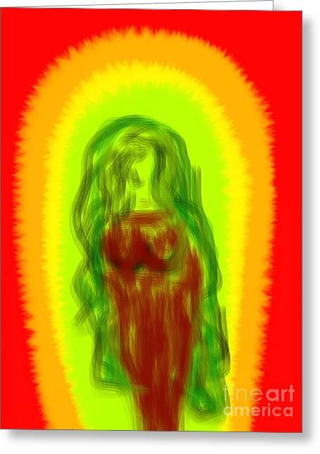 Etc. Digital Art Greeting Cards - Virgin of Seduction Greeting Card by James Eye