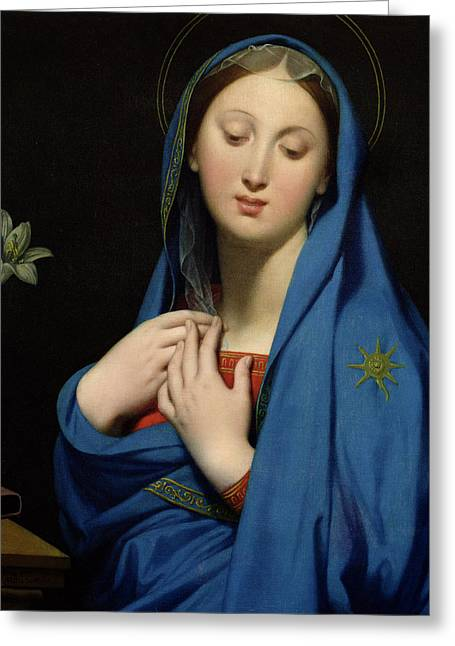 Love Laces Greeting Cards - Virgin of the Adoption Greeting Card by Jean Auguste Dominique Ingres
