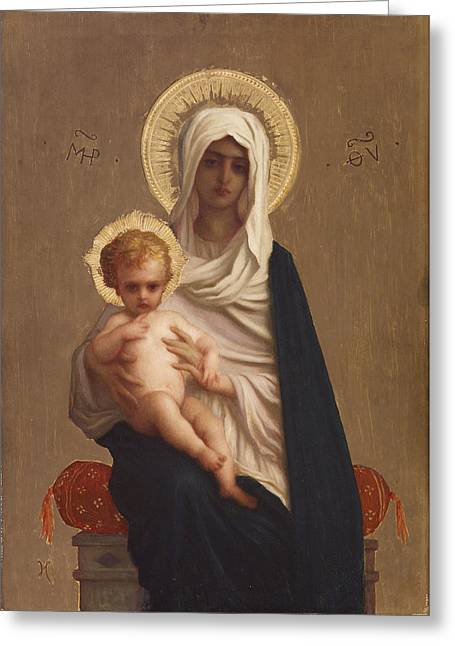 Hebert Greeting Cards - Virgin of the Deliverance Greeting Card by Ernest Hebert