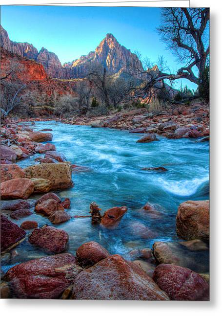 Laura Palmer Greeting Cards - Virgin River Before the Watchman Greeting Card by Laura Palmer