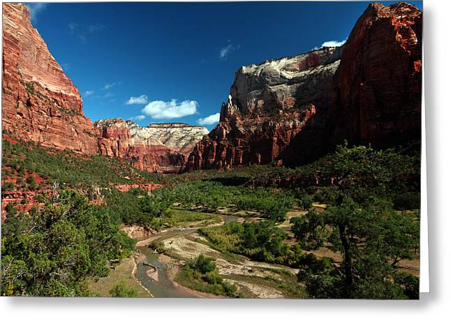 Angel Blues Greeting Cards - Virgin River Valley Greeting Card by David Yunker