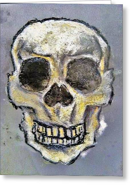 Experiment Drawings Greeting Cards - Virgin Skull  Greeting Card by Clark  Holladay