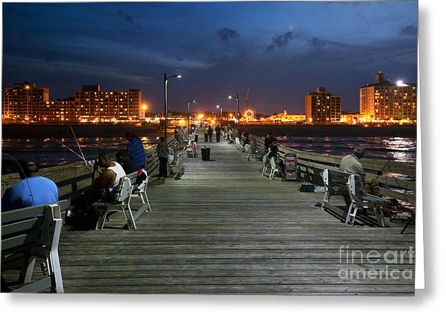 Virginia Beach Fishing Pier Greeting Card by Bill Cobb