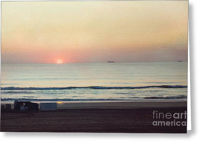Virginia Beach Greeting Cards - Virginia Beach Sunrise Greeting Card by Kay Pickens