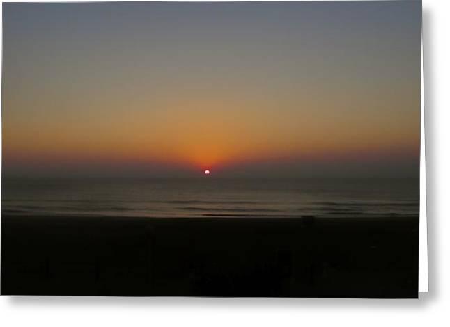 Jennifer Lamanca Kaufman Greeting Cards - Virginia Beach Sunset Greeting Card by Jennifer Lamanca Kaufman