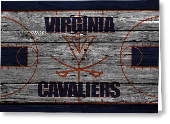 Cavalier Greeting Cards - Virginia Cavaliers Greeting Card by Joe Hamilton