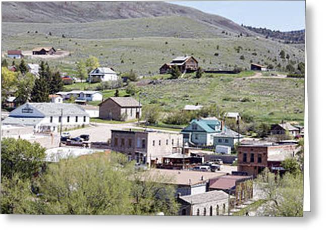 Miners Ghost Greeting Cards - Virginia City Montana Ghost Town Greeting Card by Daniel Hagerman